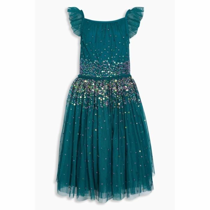 robe-de-fete-fille-3-suisses-couleur-vert-pantone-avec-des-paillettes-autour-de-la-taille-resized