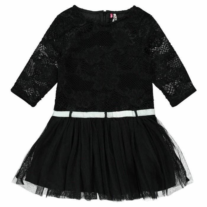 robe-de-fete-fille-orchestra-aux-manches-mi-longues-en-dentelle-noire-et-ceinture-blanche-resized