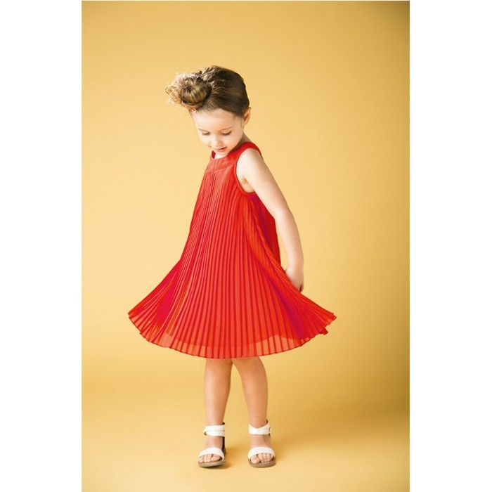 robe-de-fete-fille-orchestra-en-orange-et-aux-plisses-resized