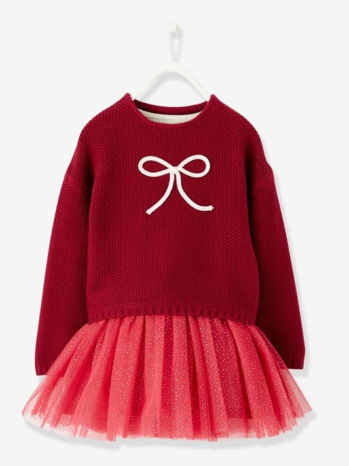 robe-de-fete-fille-vertbaudet-en-rouge-avec-grand-noeud-brillant-devant-resized