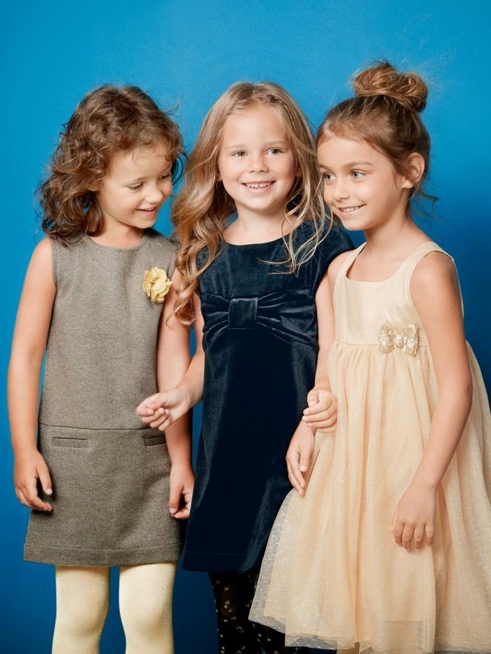 robe-de-fete-fille-bleu-fonce-vertbaudet-au-noeud-devant-resized