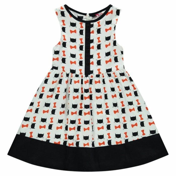 robe-de-fete-fille-en-satin-de-coton-orchestra-avec-des-chatons-oranges-ludique-resized