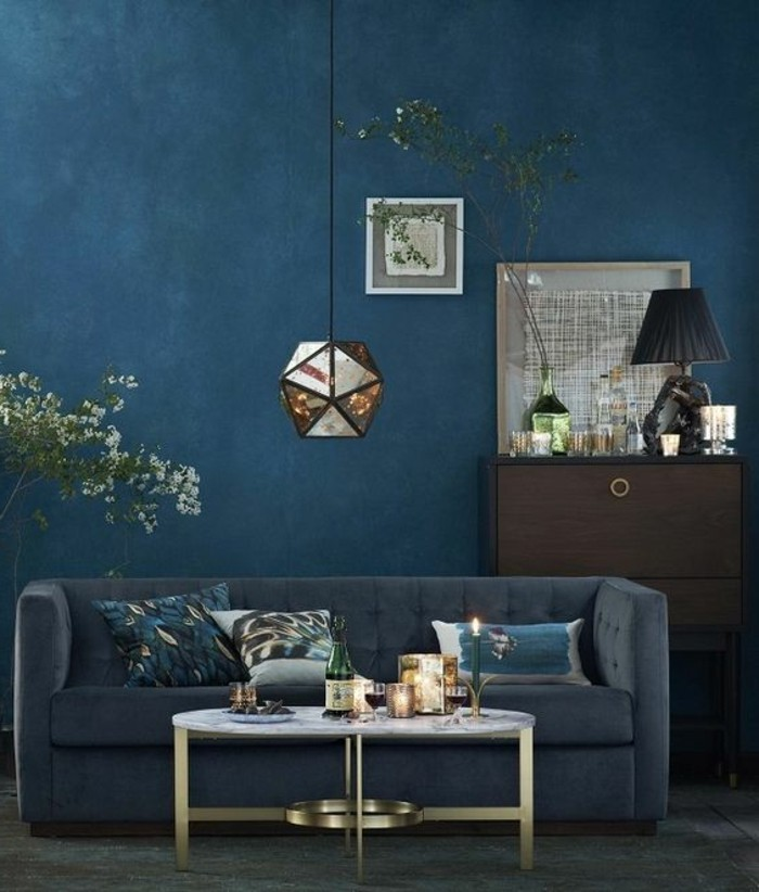 couleur bleu gris fonce. Black Bedroom Furniture Sets. Home Design Ideas