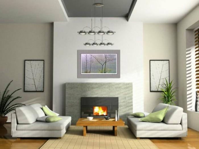 salon-gris-clair-meubles-basse-tapis-en-rotin-clair-cheminee-interieur-plante-verte