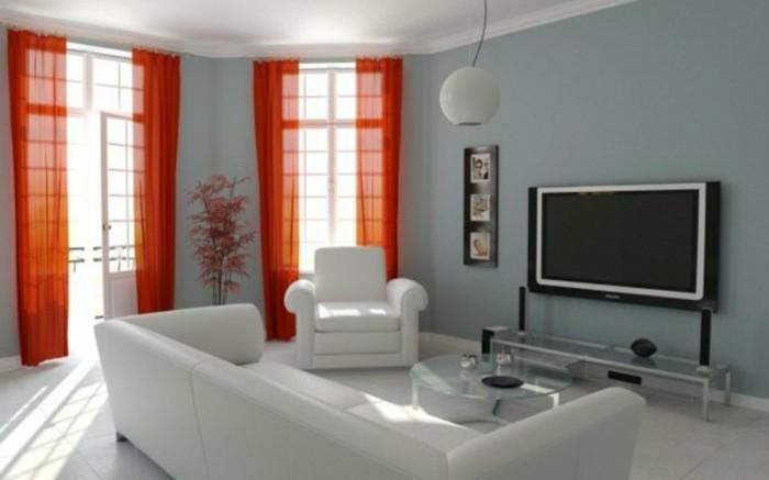 On met l 39 accent sur la couleur de peinture pour salon - Salon mur rouge et gris ...