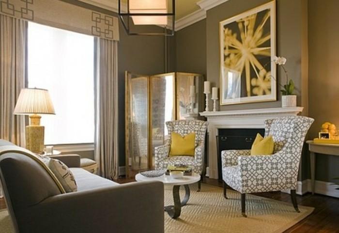 salon-taupe-et-accents-jaunes-deco-salon-gris-moderne-et-style