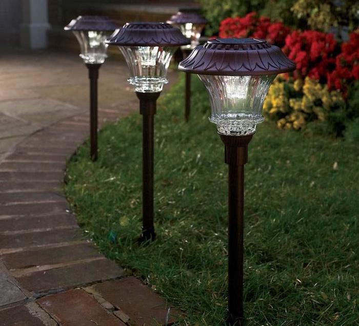 spot solaire eclairage alle chemin exterieur - Eclairage Jardin