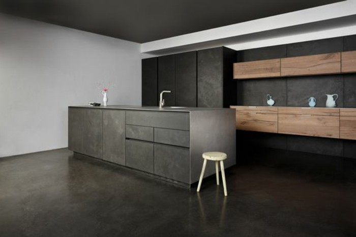 meuble de cuisine gris anthracite valdiz. Black Bedroom Furniture Sets. Home Design Ideas