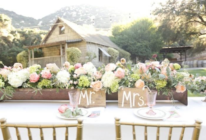 wedding photo display ideas reception - 84 idées pour la déco de votre mariage bohème chic