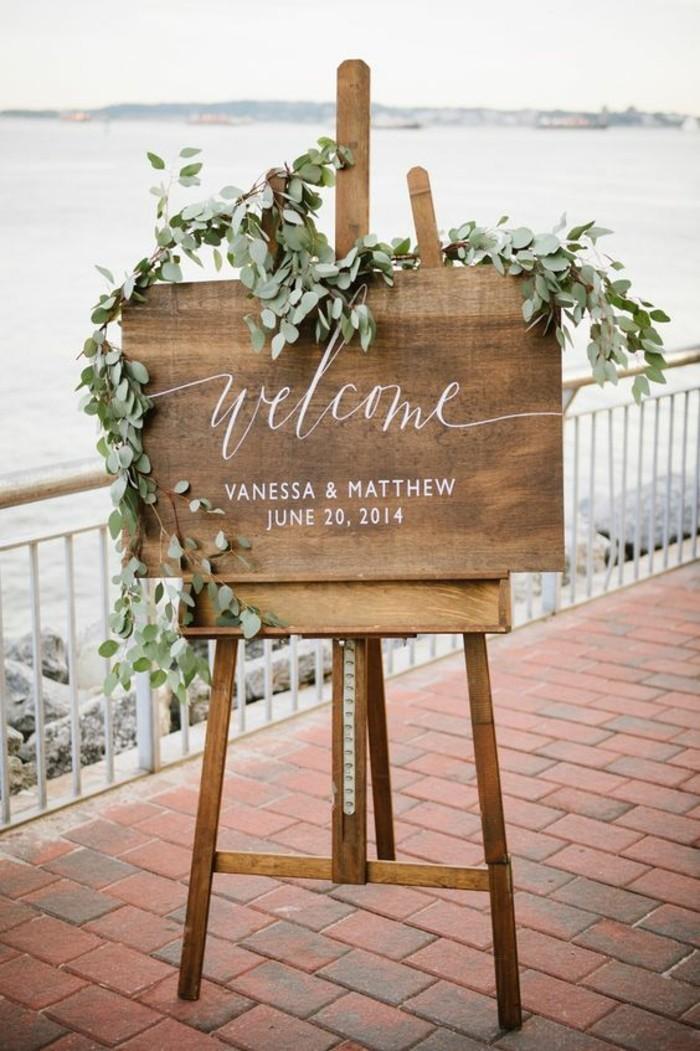 superbe-deco-vintage-mariage-chic-boheme-welcome-bienvenue-guest