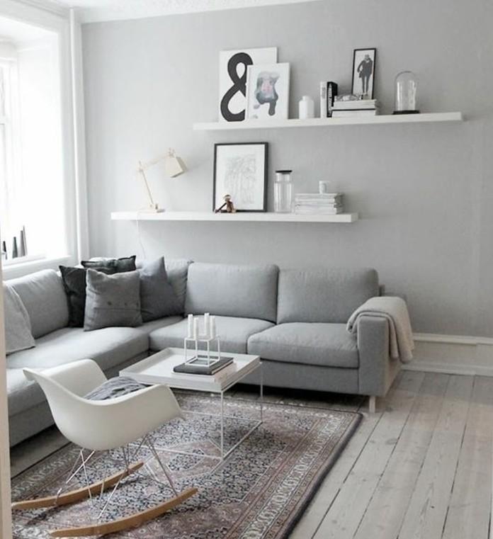 superbe-idee-pour-un-salon-gris-et-blanc-sobriete-et-design-canape-gris-chaise-a-bascule-table-a-cafe-style-scandinave
