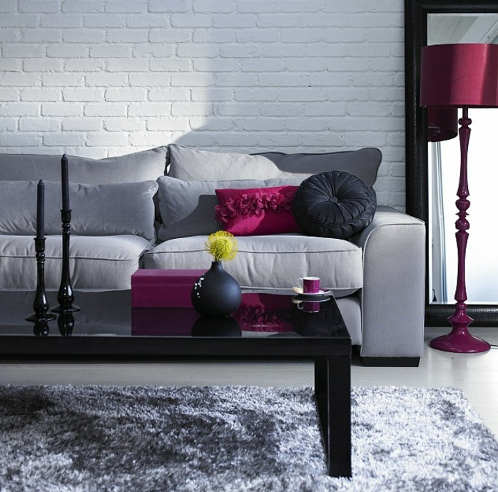 couleur salon noir blanc gris accueil design et mobilier. Black Bedroom Furniture Sets. Home Design Ideas