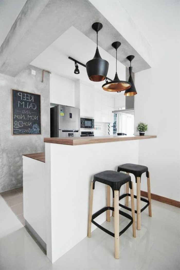 tabourets-de-bar-cuisine-simple-chic-moderne