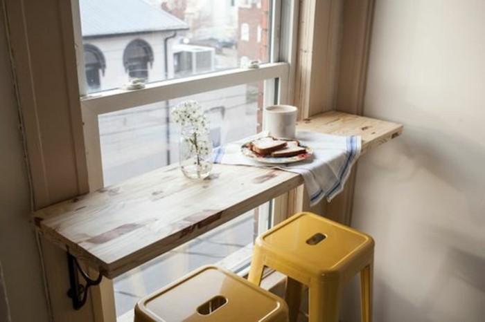 tabourets-de-bar-fenetre-chaises-en-jaune