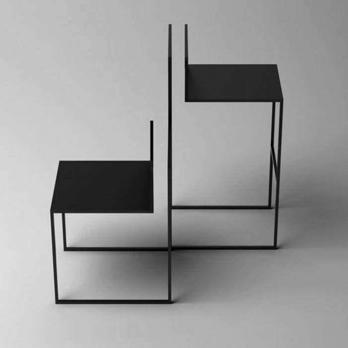 tabourets-de-bar-geometrique-figure-noir-couleur