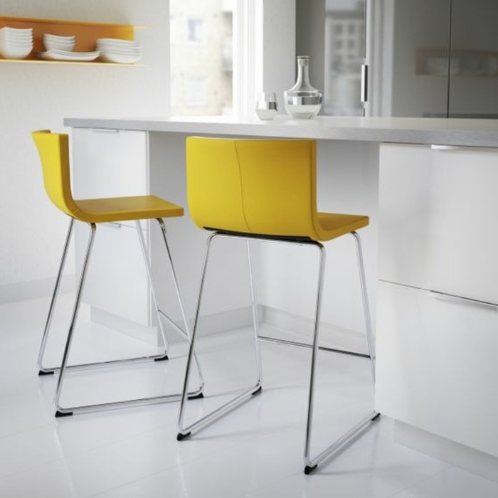 tabourets-de-bar-jaune-couleur-blanc-carreaux