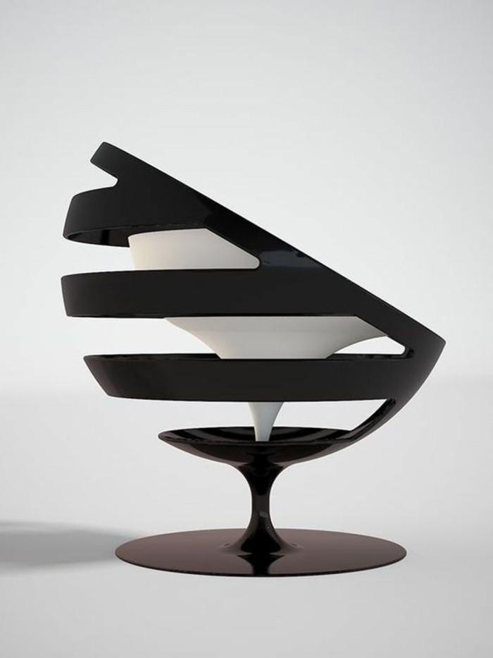tabourets-de-bar-noir-blanc-chaise-haute