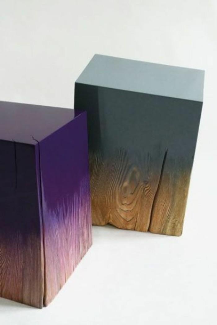 tabourets-de-bar-rectangulaire-lilas-bois-vert