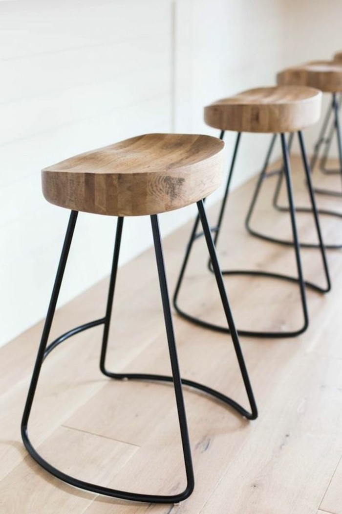 tabourets-de-bar-simple-moderne-bois