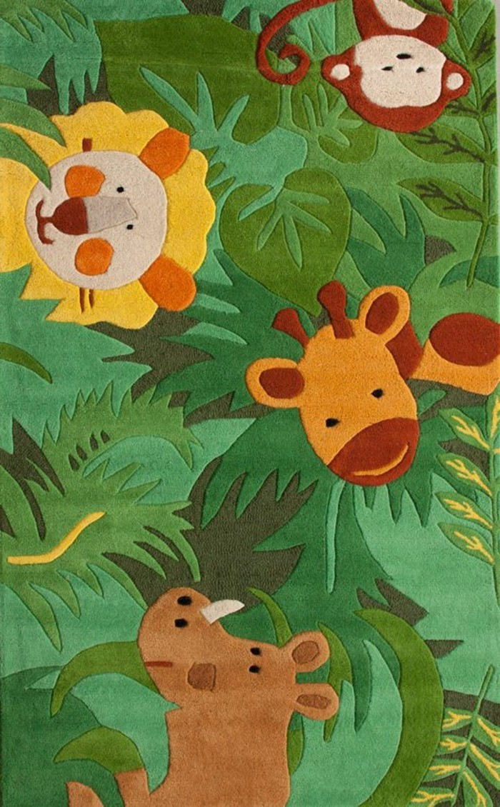 Best with tapis enfant jungle - Tapis animaux de la jungle ...