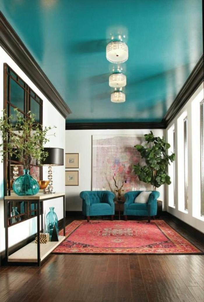 tapis-modernes-deux-fauteuils-plante-lampes