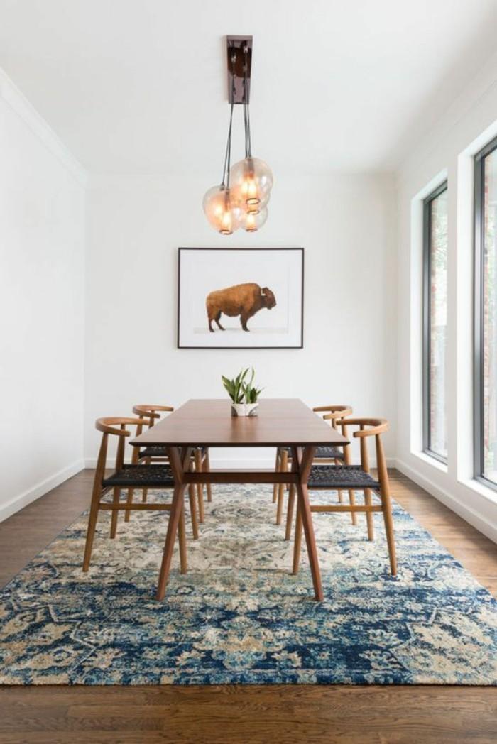 tapis-modernes-lustre-grande-table-en-bois