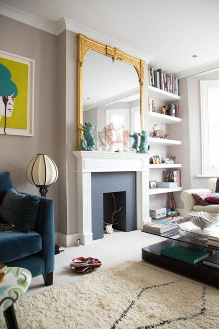 tapis-modernes-un-tapis-blanc-avec-un-peu-de-noir