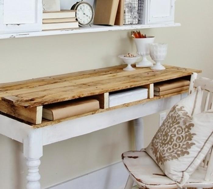 bureau en palette mod les diy et tutoriel pour le fabriquer soi m me. Black Bedroom Furniture Sets. Home Design Ideas