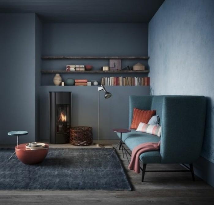 Chambre A Coucher Adulte Bois Blanc : salon gris, petits accents colorés, ambiance chic, deco salon moderne