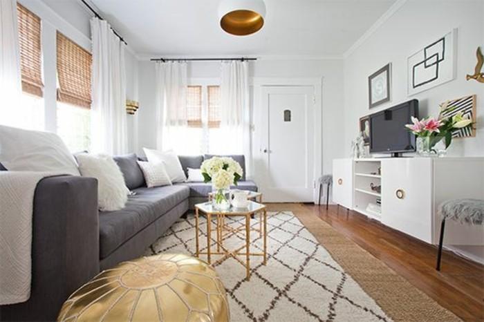 Un salon en gris et blanc c 39 est chic voil 82 photos qui en t moignent - Exemple peinture salon ...