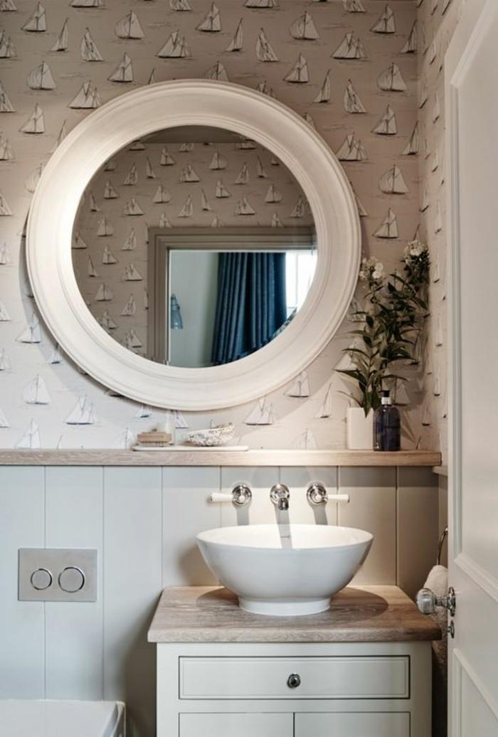 La vasque ronde en 45 photos choisissez la v tre - Mitigeur mural salle de bain ...