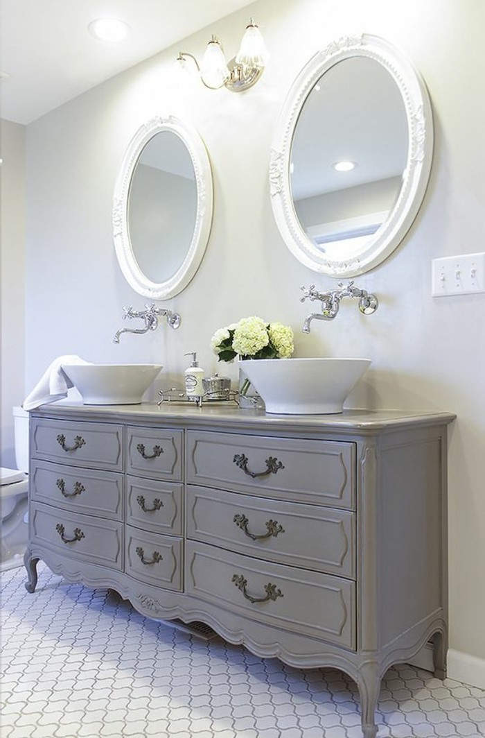 awesome meuble double vasque salle de bain vintage pictures. Black Bedroom Furniture Sets. Home Design Ideas