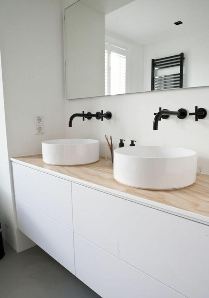 vasque-ronde-deux-vasques-blanches-en-forme-ronde-meuble-sous-vasque-elegant