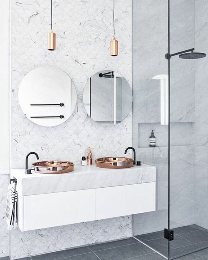 vasque-ronde-vasques-petite-taille-deux-lampes-suspendues
