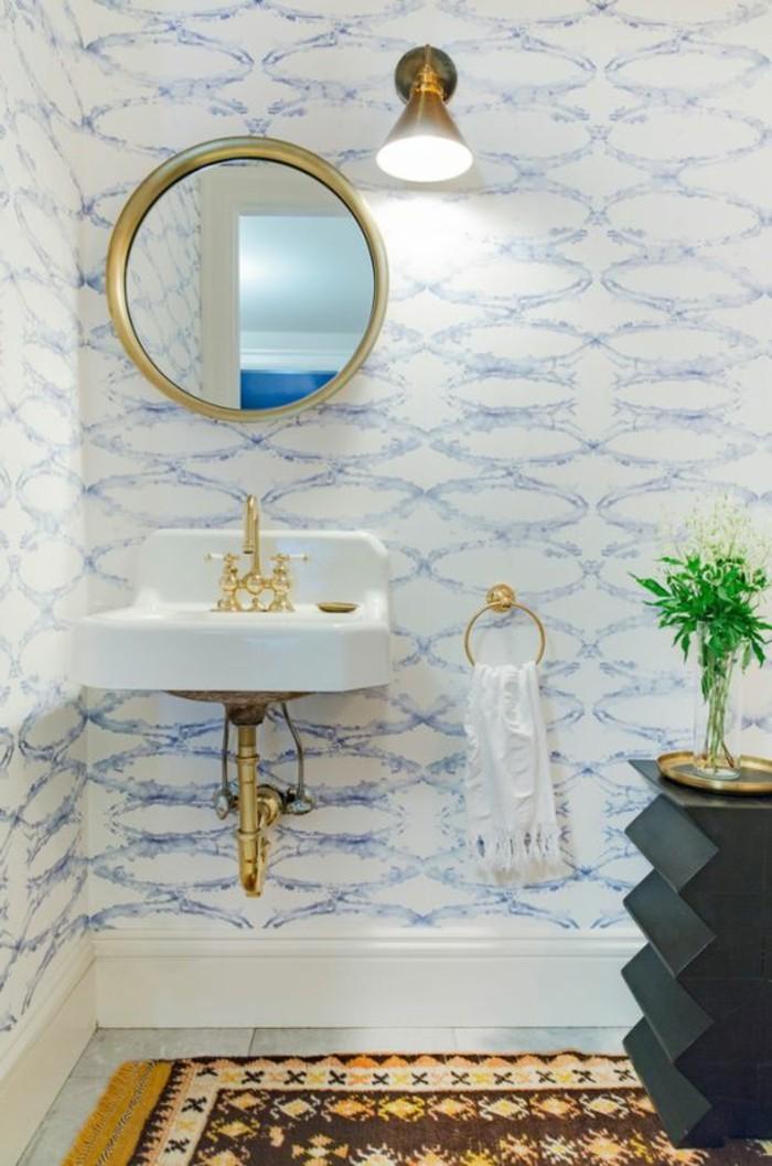 vasque-suspendue-miroir-rond-applique-murale