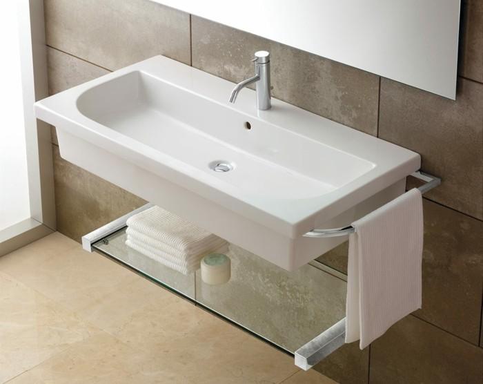 vasque-suspendue-porte-serviettes-pratique-style-minimaliste