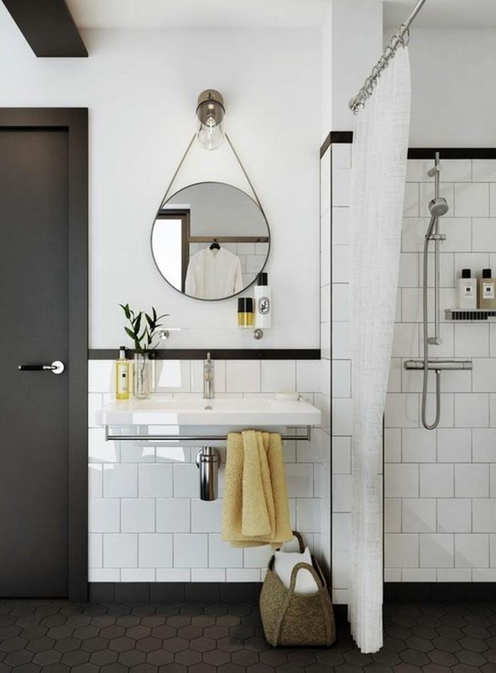 vasque-suspendue-salle-de-bain-en-noir-et-blanc