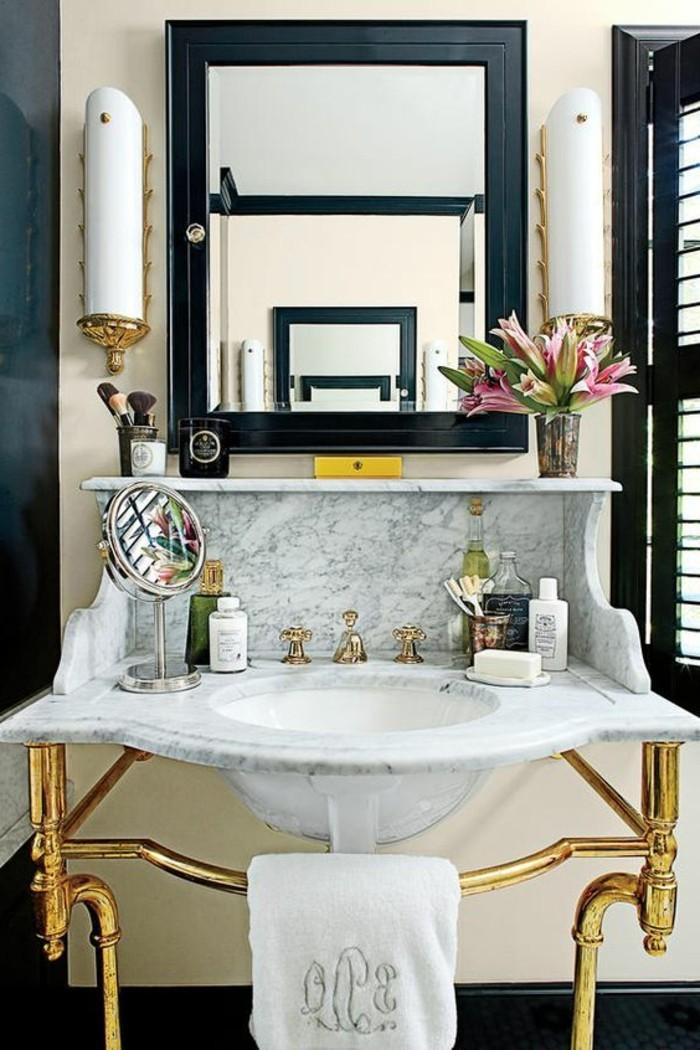 vasque-suspendue-vintage-miroir-salle-de-bains
