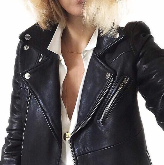 veste-en-cuir-femme-tenue-automne-tendance-selfie
