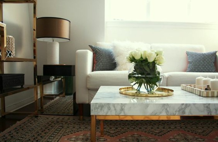 Salon En Marbre : Table basse en marbre idées pour donner du style au