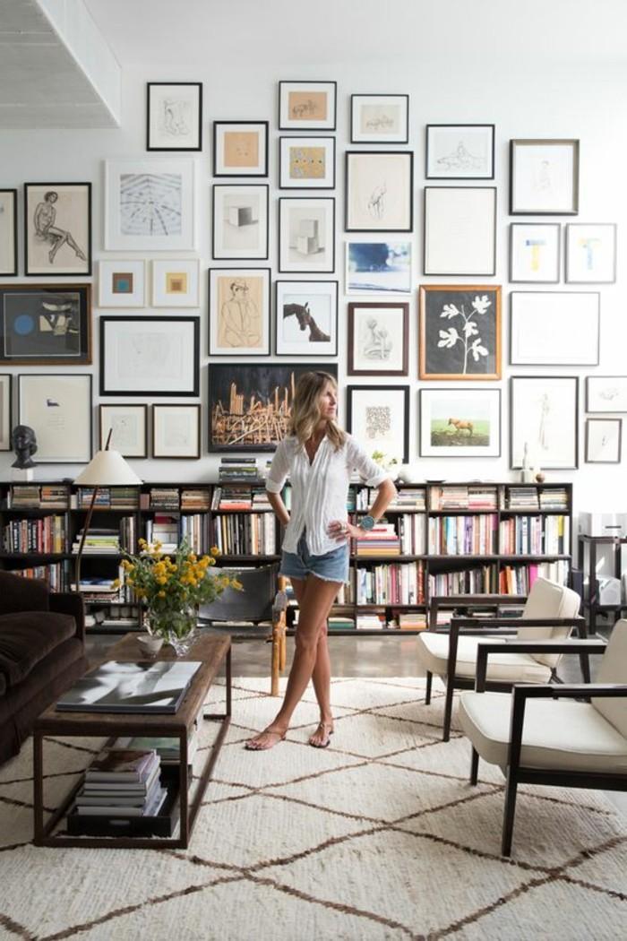 etagere-basse-bibliotheque-etagere-salon-vaste-tapis-blanc-marocain
