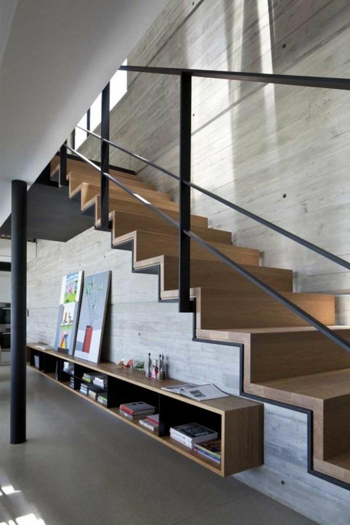 etagere-basse-escalier-en-bois-etagere-murale-suspendue
