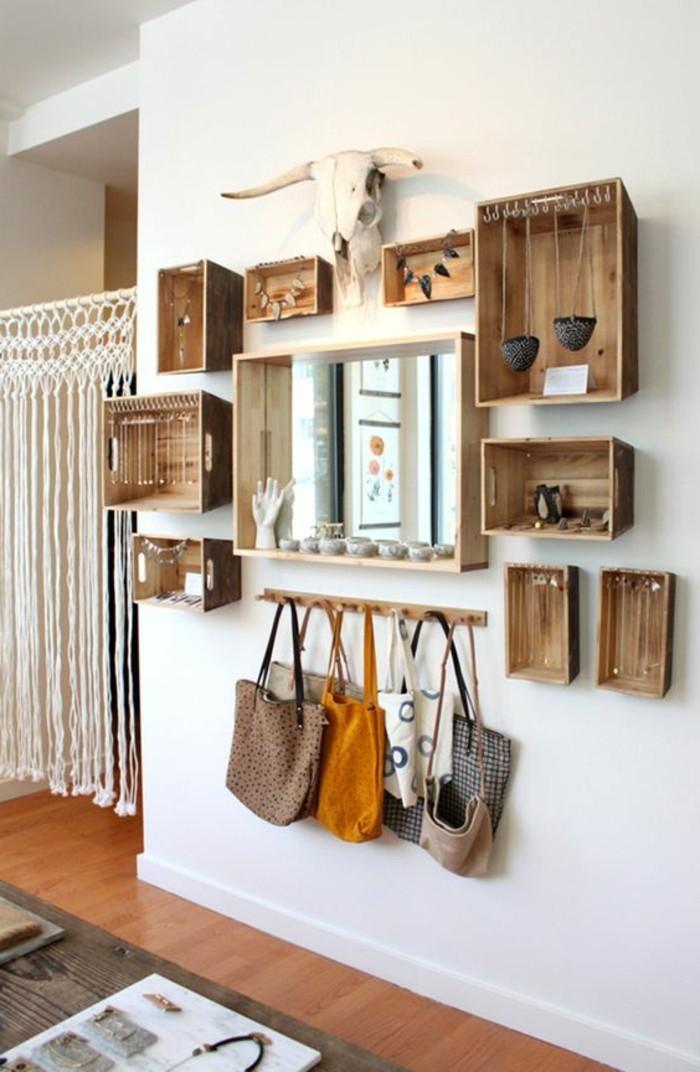 tag re en palette de bois une bouff e d inspiration rustique. Black Bedroom Furniture Sets. Home Design Ideas