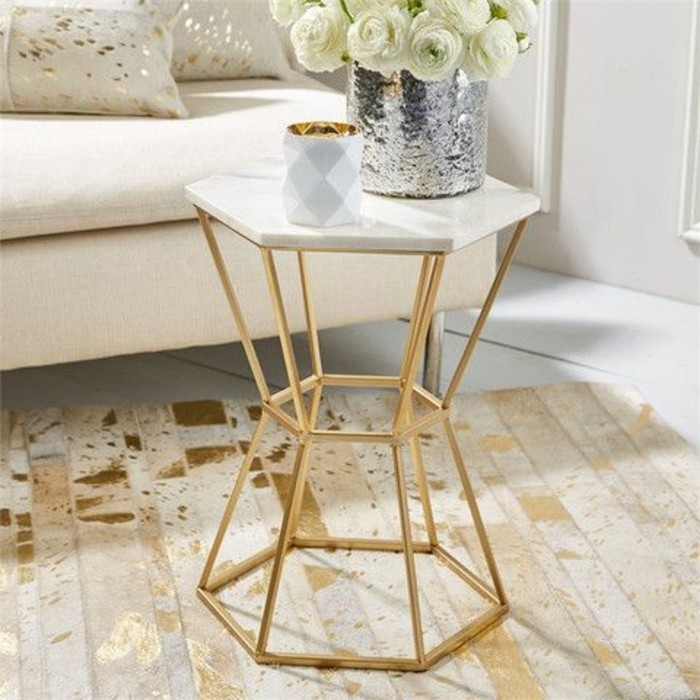 Table basse en marbre 58 id es pour donner du style au - Decoration marbre salon ...