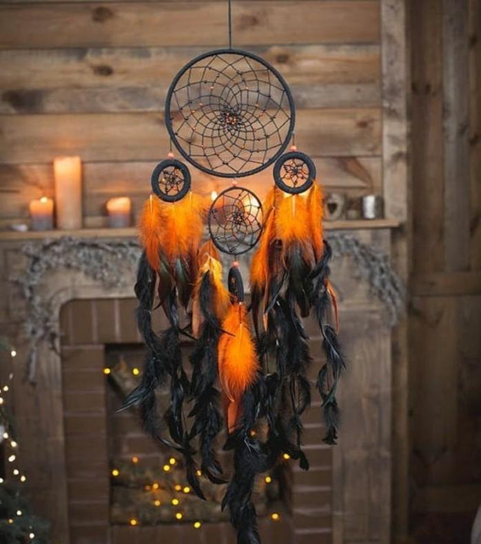 ambiance-mystique-fabriquer-un-attrape-reve-en-orange-et-noir-modele-fascinant