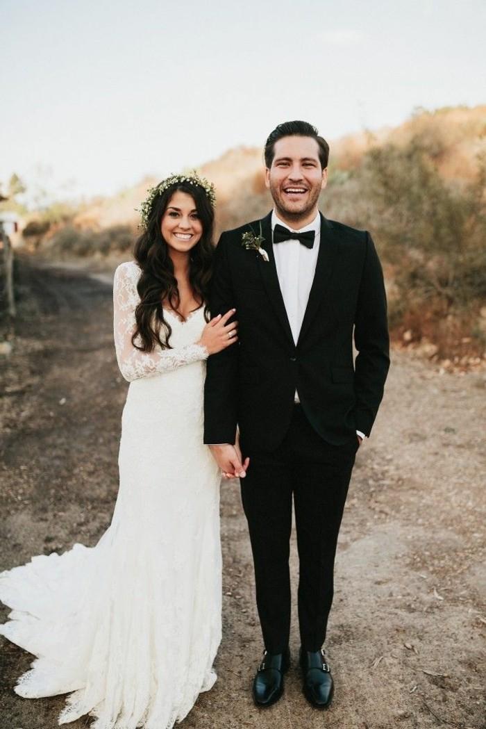 Trouvez la meilleure robe de mari e avec manches - Photo de mariage couple ...