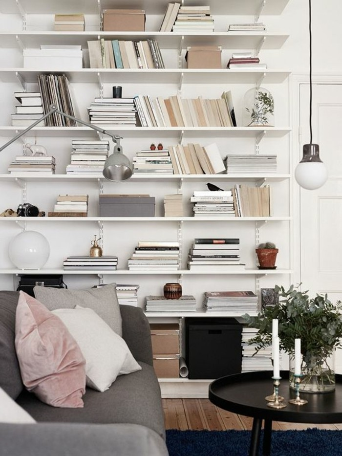 bibliotheque-meuble-etagere-murale-blanche-table-basse