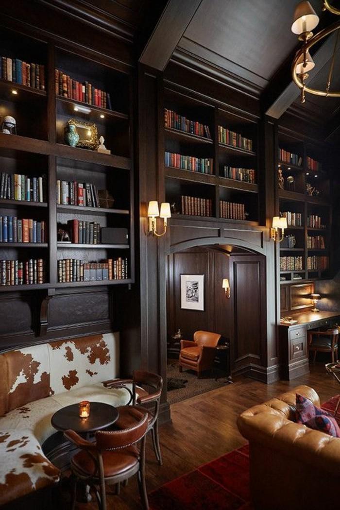 bibliotheque-meuble-salle-de-sejour-super-cosy-et-en-style-traditionnel
