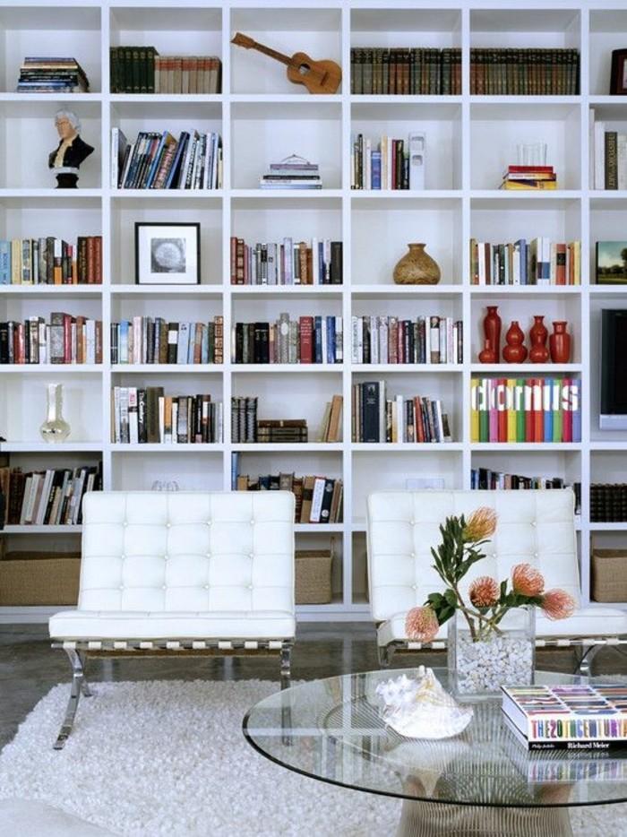 bibliotheque-murale-etagere-bibliotheque-blanche-table-ovale-en-verre