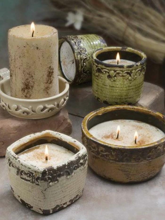 bougies-dans-de-jolies-moules-vintage-comment-fabriquer-des-bougies-idee-excellente